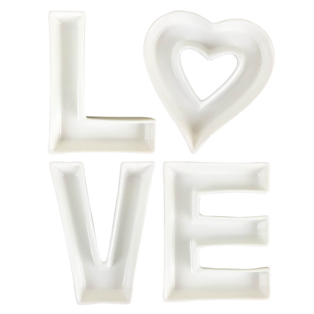 LOVE Ceramic Letter Dish Decorating Kit