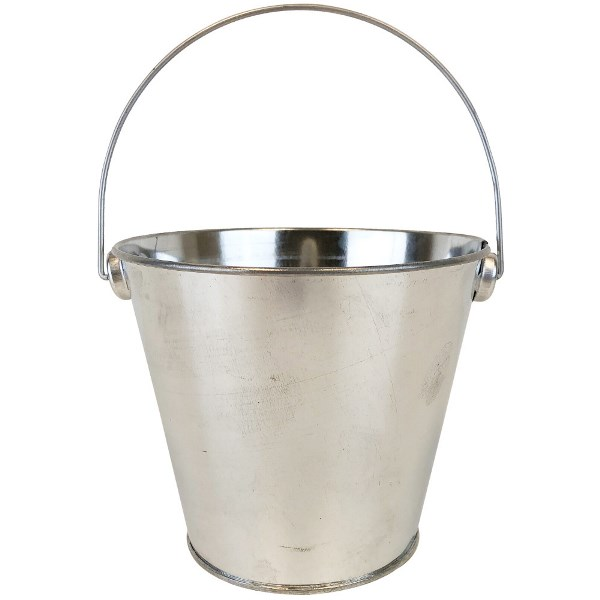 Metal Favor Bucket Pail 4in Galvanized