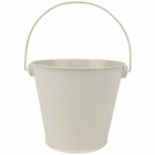 Metal Favor Bucket Pail 4in Ivory