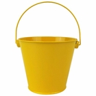 Metal Favor Bucket Pail 4in Yellow