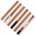 "Metallic Stripe Cocoa Paper Napkins 6.5"" 20pcs"