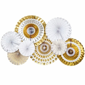 Mixed Metallics Paper Pinwheel Decorating Kit