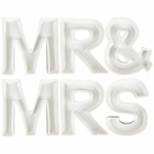 MR & MRS Ceramic Letter Dish Decorating Kit