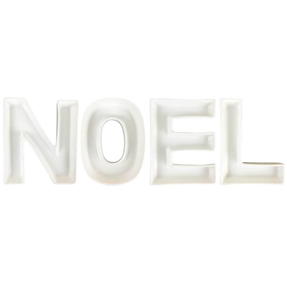 NOEL Ceramic Letter Dish Decorating Kit