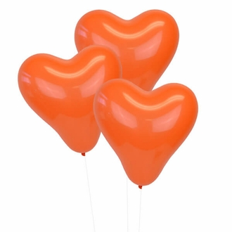 Orange 12 inch Heart Latex Balloon 100pcs