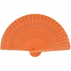 Orange 8inch Sandalwood Hand Fan