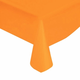 "Orange Solid Plastic Tablecloth 54"" X 108"""