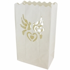 Paper Candle Bag Luminaries White Dove (10-pack)