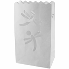 Paper Candle Bag Luminaries White Dragonfly (10-pack)