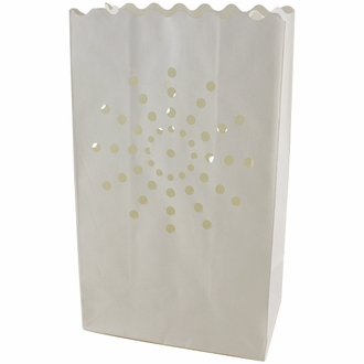 Paper Candle Bag Luminaries White Sunburst (10-pack)
