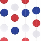 Paper Circle Garland Red White and Blue 4ft
