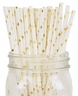 Paper Straws 25pcs Metallic Gold Stars