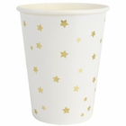 Party Paper Cups 8pcs Gold Stars