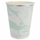 Party Paper Cups 8pcs Marble Mint