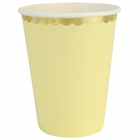 Party Paper Cups 8pcs Scallop Solid Banana Yellow