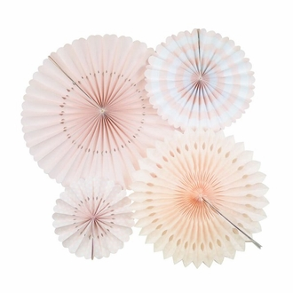 Pastel Pinks Tissue Fans and Pinwheel Decorating Kit