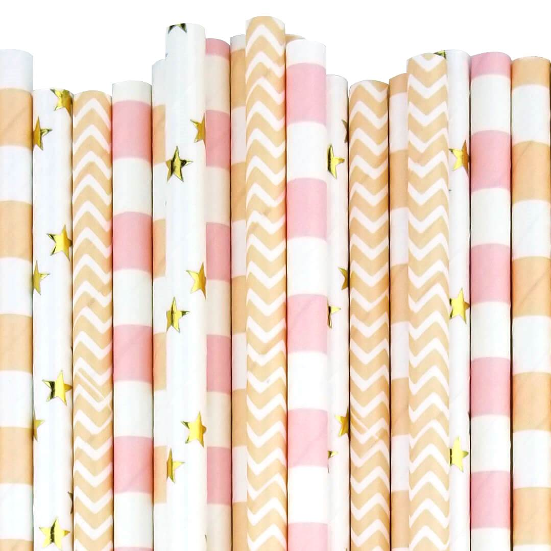 Peach of Cake Paper Straw Decorating Kit