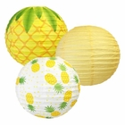Pineapple 12inch Paper Lantern Set 3pcs