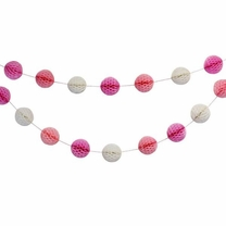 Pink-a-Boo Mini Honeycomb Ball Garland Decorating Kit