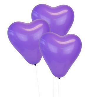 Purple 12 inch Heart Latex Balloon 100pcs