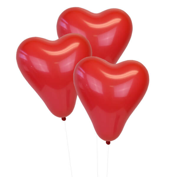 Red 12 inch Heart Latex Balloon 100pcs