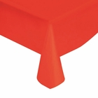 "Red Solid Plastic Tablecloth 54"" X 108"""