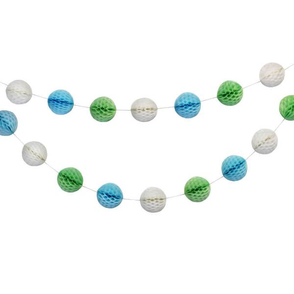 Rock A Bye Blue Mini Honeycomb Ball Garland Decorating Kit