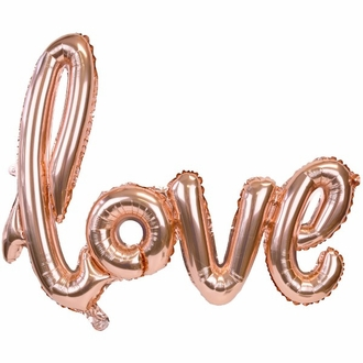 Rose Gold Love Script Foil Balloon 30in