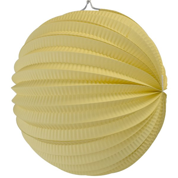 "Round Accordion 12"" Paper Lantern Banana Yellow"