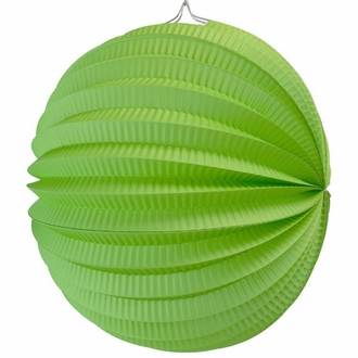"Round Accordion 12"" Paper Lantern Green Apple"