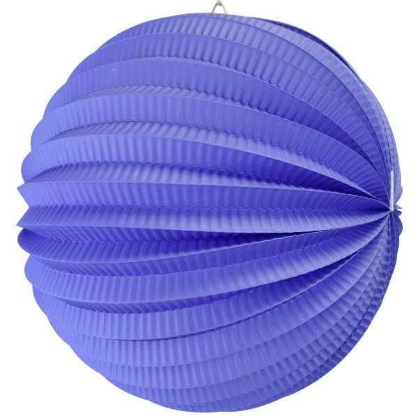 "Round Accordion 12"" Paper Lantern Indigo"