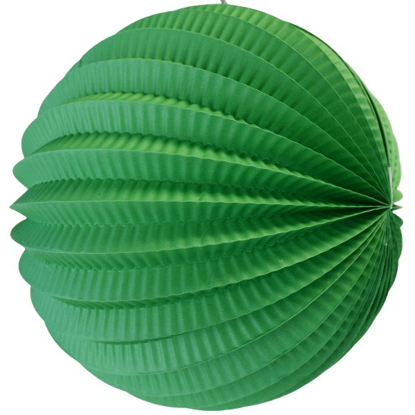 "Round Accordion 12"" Paper Lantern Kelly Green"