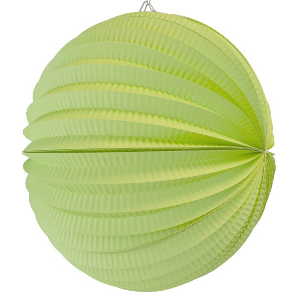 "Round Accordion 12"" Paper Lantern Kiwi"