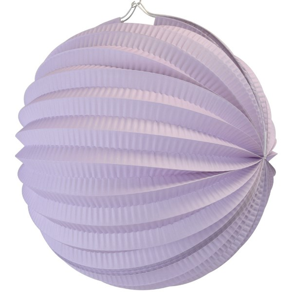 "Round Accordion 12"" Paper Lantern Lavender"