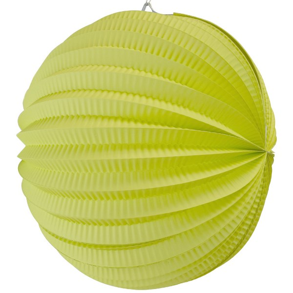 "Round Accordion 12"" Paper Lantern Lime"