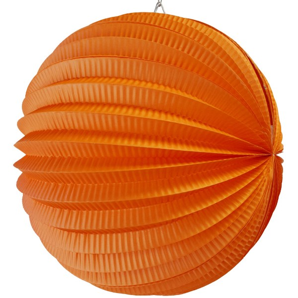 "Round Accordion 12"" Paper Lantern Orange"