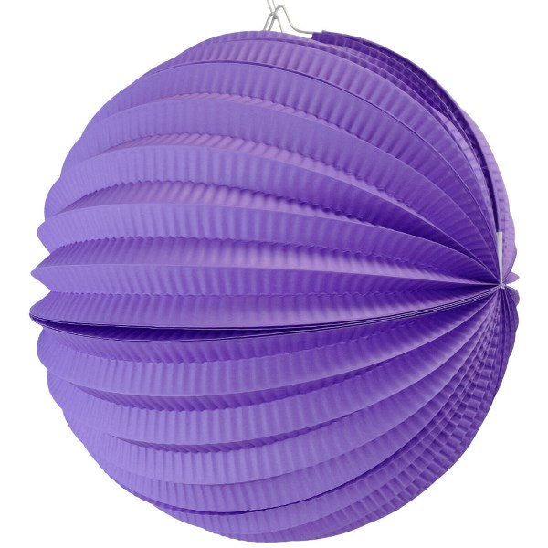"Round Accordion 12"" Paper Lantern Purple"