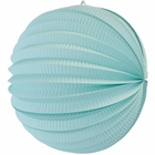 "Round Accordion 12"" Paper Lantern Seafoam"