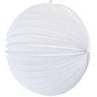 "Round Accordion 12"" Paper Lantern White"