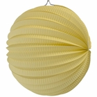"Round Accordion 8"" Paper Lantern Banana Yellow"