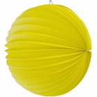 "Round Accordion 8"" Paper Lantern Lemon Yellow"