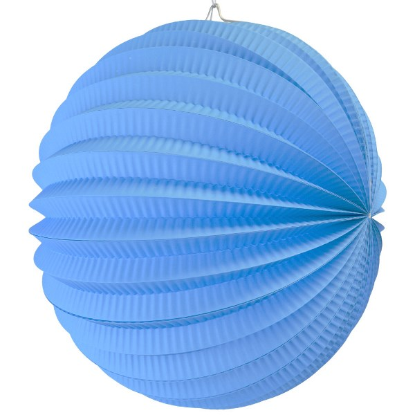 "Round Accordion 8"" Paper Lantern Powder Blue"