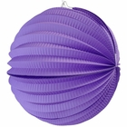 "Round Accordion 8"" Paper Lantern Purple"