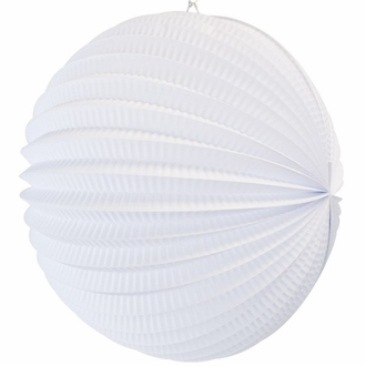 "Round Accordion 8"" Paper Lantern White"