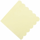 "Scallop Solid  Banana Yellow Paper Napkins 6.5"" 20pcs"
