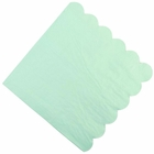 "Scallop Solid Mint Paper Napkins 6.5"" 20pcs"