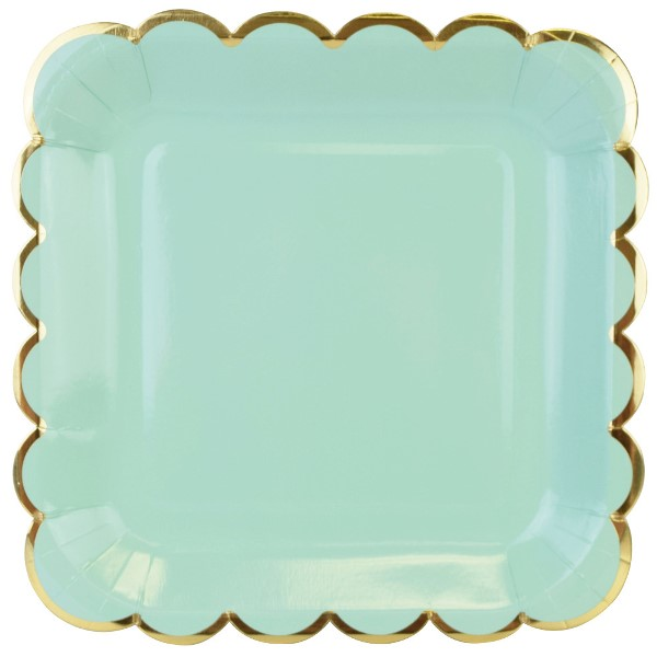 sc 1 st  Just Artifacts & Scallop Solid Mint Square Paper Plate 9in 8pcs