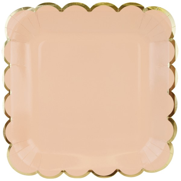 Scallop Solid Peach Square Paper Plate 9in 8pcs  sc 1 st  Just Artifacts & Paper Plates for Parties | Just Artifacts