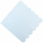 "Scallop Solid Sky Blue Paper Napkins 6.5"" 20pcs"