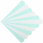 "Scallop Striped Mint Paper Napkins 6.5"" 20pcs"